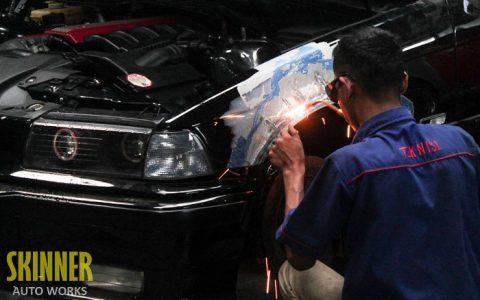 Pengerjaan Radius Fender BMW E36